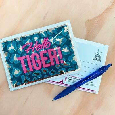 Hello Tiger! Tea Postcard - Tea Netherlands