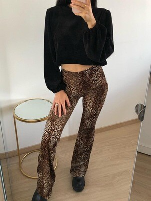 Panther Suede Flare Pants Brown - Eight Paris