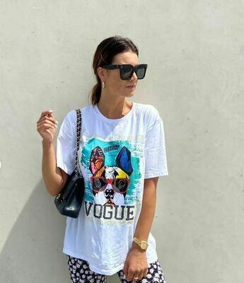 Vogue Dog Tee White - Vogue Italy