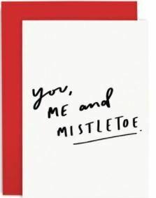 Mistletoe Red Christmas Card