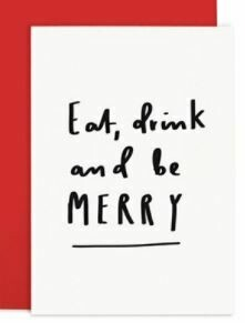 Eat Drink Red Christmas Card