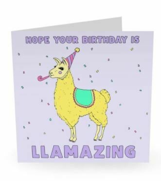 I HOPE YOUR BIRTHDAY IS LLAMAZING