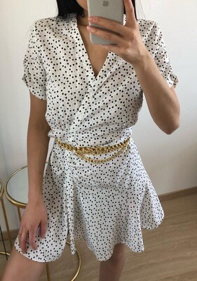 Hearts Dress White - Eight Paris