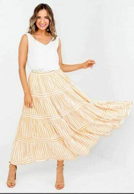 Soleil Stripe Skirt - Label of Love