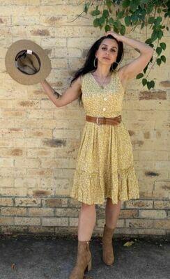 Yellow Spring Dress - Angelic Plus