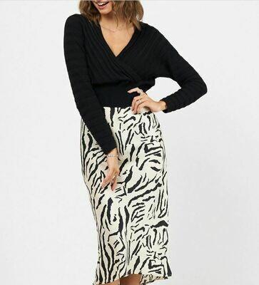 Zebra Skirt - White Closet