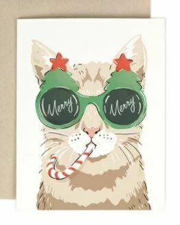 Merry Merry Cat Card