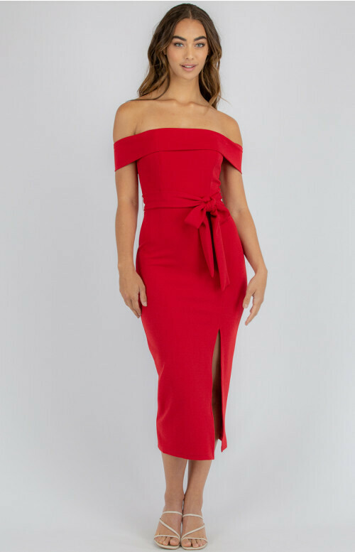 Off Shoulder Bodycon Red - Style State