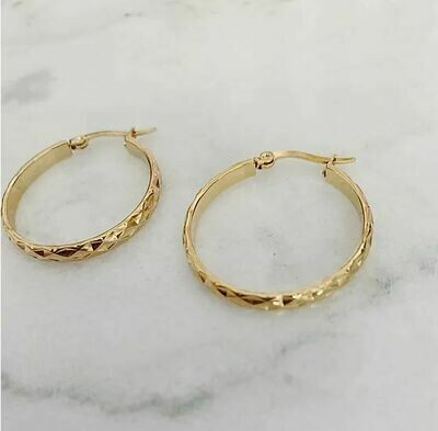 DIAMOND CUT HOOPS (New Edition) - 3 SIZES