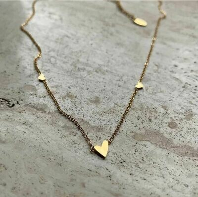 Tiny Love Necklace - Gold & Silver