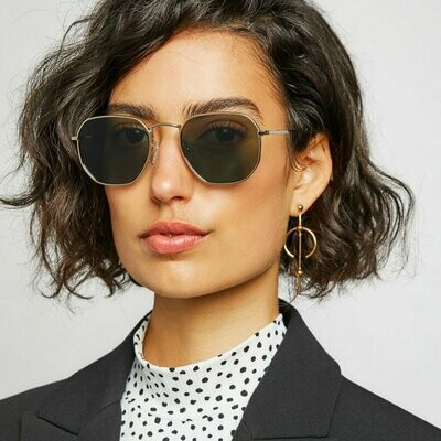 DXB Sunglasses Unisex - Black Grey, Gold Green & Gold Brown