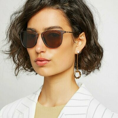 NYC Sunglasses Unisex - Black Grey & Tort Brown