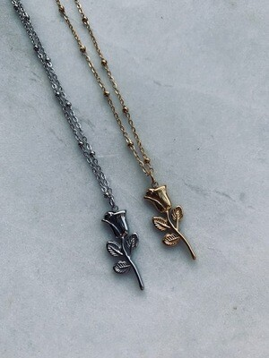 Rocky Rosa Necklace - Gold & Silver