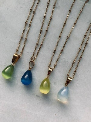 Ginni Necklace - White, Green, Blue and Yellow