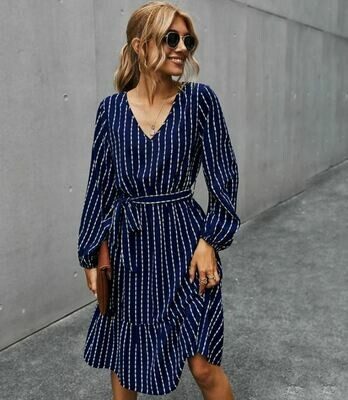 Navy Dress Stripes - Sienna Joy