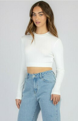 High Neck Crop Top Black & White - Style State