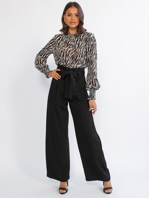 Black Wide leg Pants - Style State