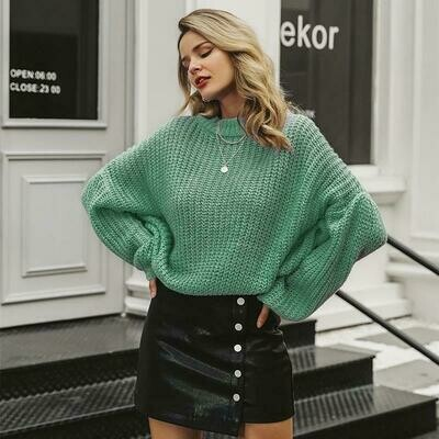 Lantern Sweater - Red Green & Blue - ONE SIZE - Sienna Joy