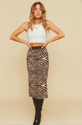 Knitted Zebra Skirt - All About May