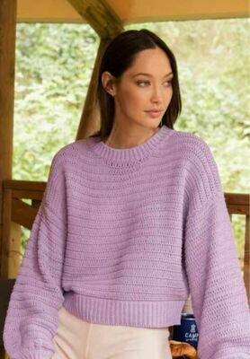 Lilac Knitted Jumper - White Closet