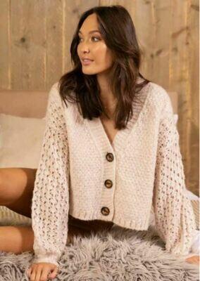 Knit Cardigan - Beige - White Closet