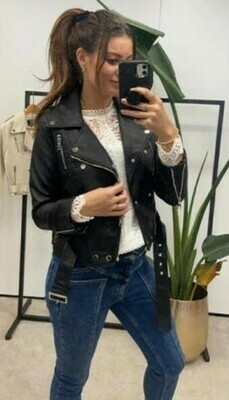 Leather Jacket - Drole De Copine