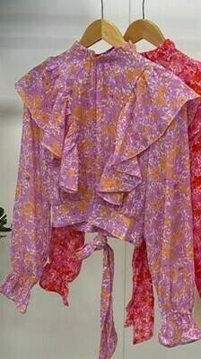 Ruffle Top Purple & Orange - Vera & Lucy