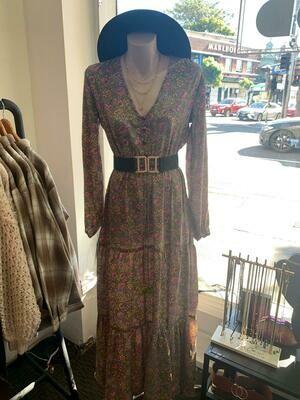 Judith Maxi Maxi dress - Gold & SIlver