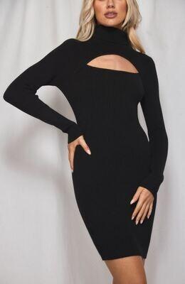 90's Neckline Cut Out Dress - Winnie & Co