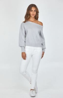 Off Shoulder Knit Grey - Style State
