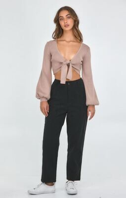 High Waisted Corduroy Tapered Pants - Style State