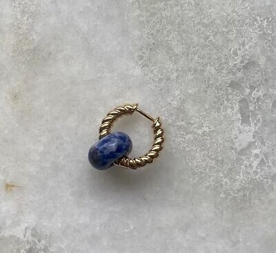 Indy Earring Sodalite - One Piece