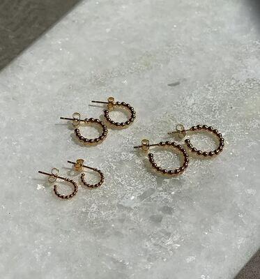 Jenny Studs - 3 sizes - Gold & Silver