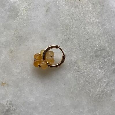 Polly Earring Yellow Jade - One Piece