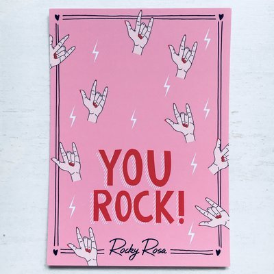 YOU ROCK CARD WITH ENVELOPE
