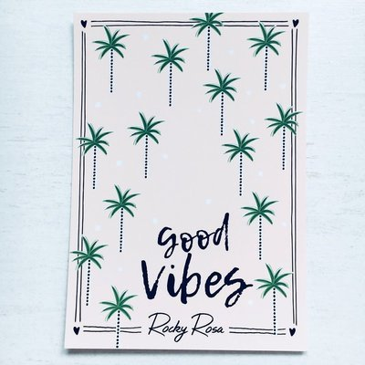 GOOD VIBES CARD WITH ENVELOPE