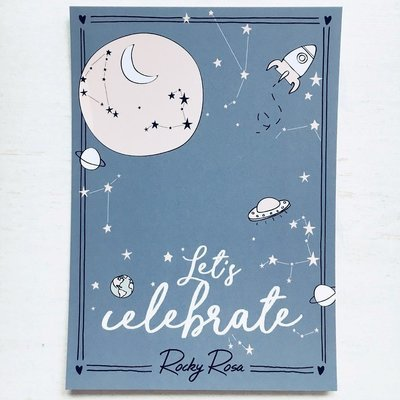 LET'S CELEBRATE CARD WITH ENVELOPE