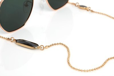 Crystal C Gold or Silver Sunglasses Chain ★ Sunny Cords