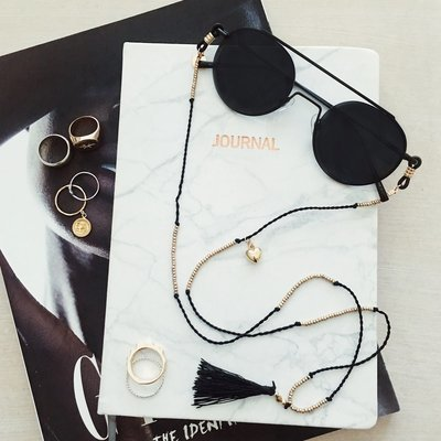 McTassel Sunglasses Chain in Black, White, Yellow, Green, Beige & Red ★ Sunny Cords