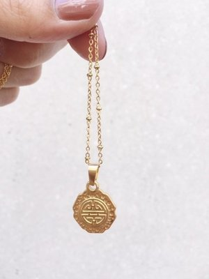 TAKE ME TO GREECE COIN NECKLACE