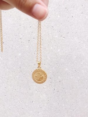 TREE OF LOVE COIN NECKLACE