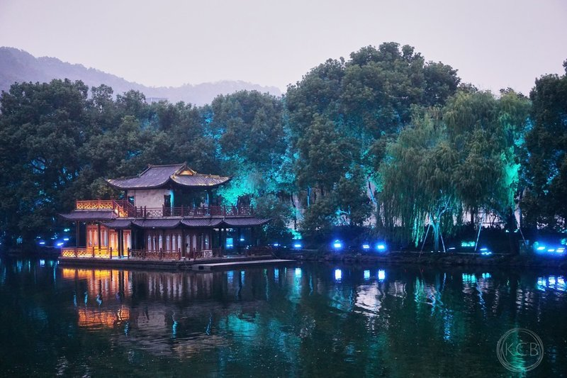 Blue Night on West Lake