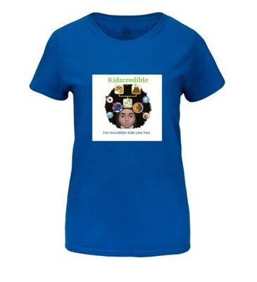 Kidscredible Logo T-Shirt- Infants, Preschoolers to Adult Sizes  4 Colors to choose from.