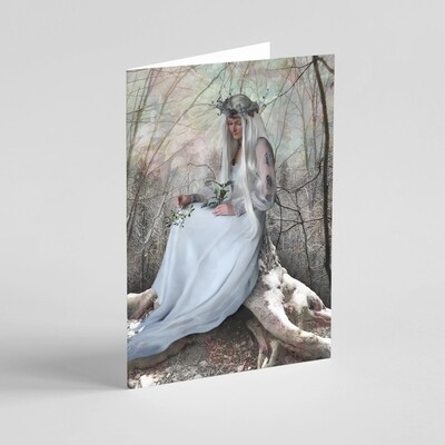 'Solstice Queen' Winter Holidays / Christmas / Solstice Greeting Card
