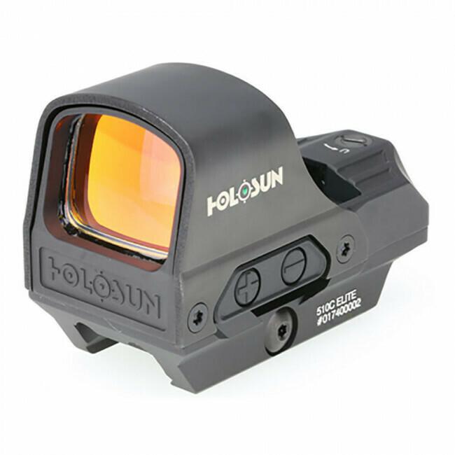 Holosun, HE510CGR, Elite Open Reflex Sight- Green Circle Dot/Solar Panel