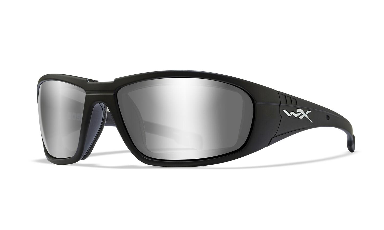 Wiley-x, CCBOS01, Boss, Sliver Flash (Smoke Grey)/Gloss Black