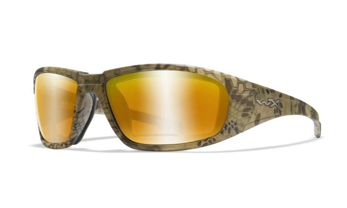 Wiley-x, CCBOS12, Polarized Venice Gold Mirror (Amber)/Kryptek Highlander