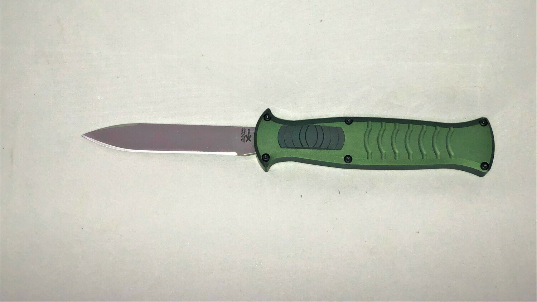 AKC, EVO-GB, X-Etreme OTF,  Green T6 Aluminum, Black AUS8 Blade