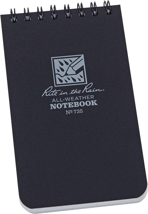 """R735, Rite in the rain, 3"""" x 5"""" Spiral Notebook"""