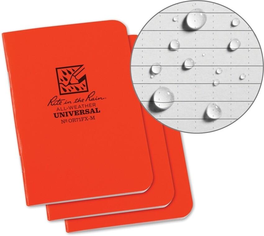 Rite in the Rain, OR7`FXM, Stapled mini Notebook 3 Pack